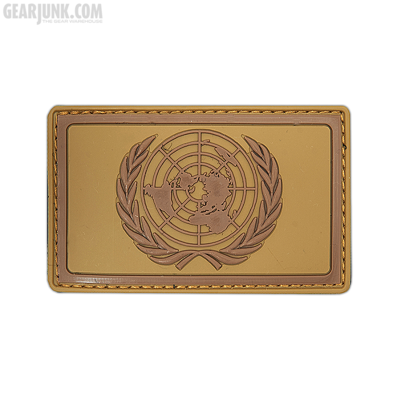 """Patch """"United Nations"""", braun"""