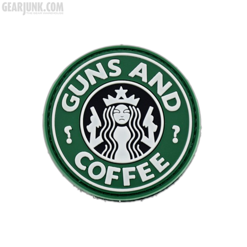"""Patch """"Guns And Coffee"""""""