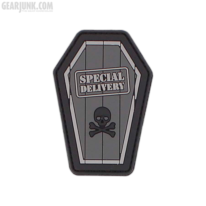 """Patch """"Special Delivery"""", grau"""