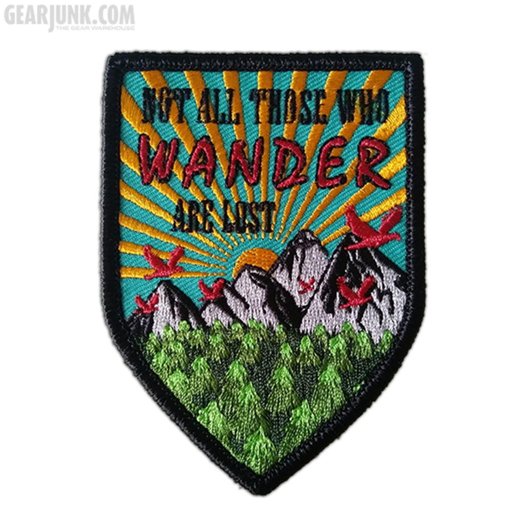 """Patch """"Not All Those Who Wander Are Lost"""""""